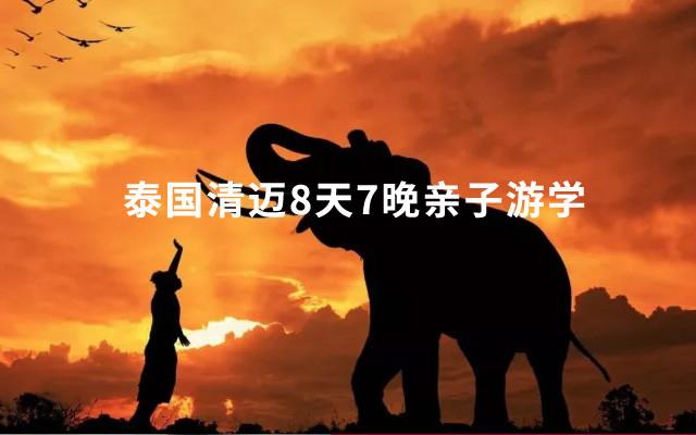 泰国寒假清迈亲子游,8天7晚游学?学英语、艺术、大象保育营!还有3岁起报,独家幼儿园插班营,每周出发!(1.26-2.2)