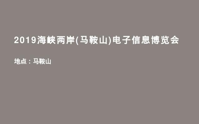 2019海峡两岸(马鞍山)电子信息博览会