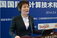 工业和信息化部电子五所认证中心技术总监刘小茵照片