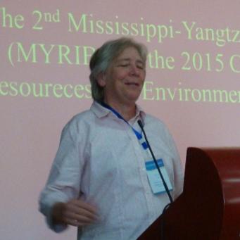 美国水产学会会长Donna Parrish照片