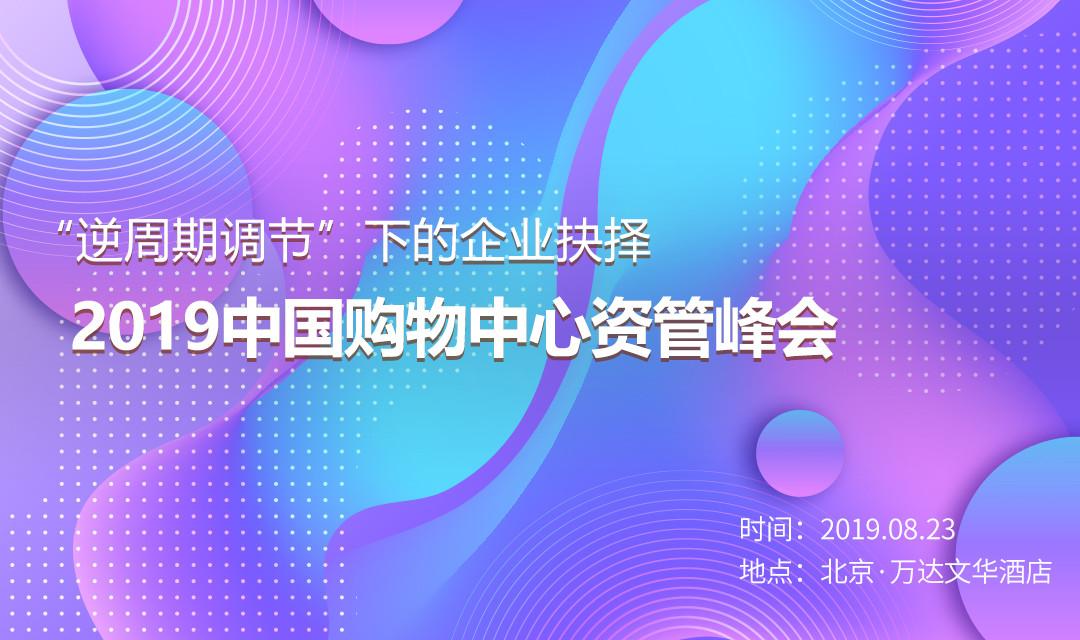 """""""逆周期调节""""下的企业抉择——2019中国购物中心资管峰会"""