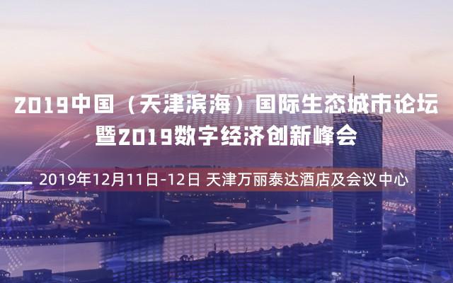 2019中國(天津濱海)國際生態城市論壇暨2019數字經濟創新峰會