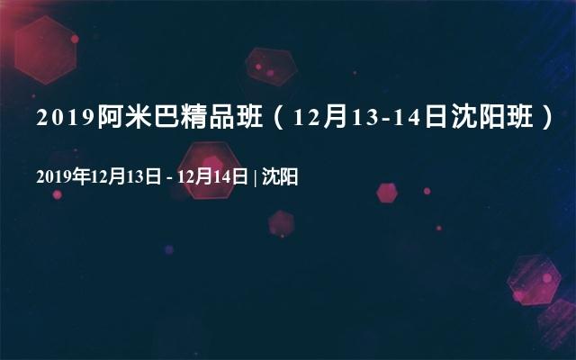 2019阿米巴精品班(12月13-14日沈陽班)