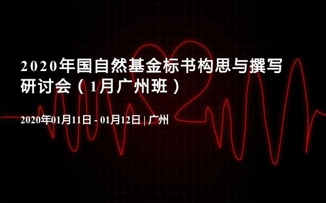 2020年国自然基金标书构思与撰写研讨会(1月广州班)