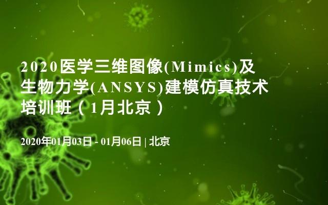 2020医学三维图像(Mimics)及生物力学(ANSYS)建模仿真技术培训班(1月北京)