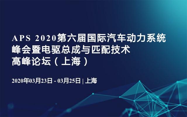 APS 2020第六屆國際汽車動力系統峰會暨電驅總成與匹配技術高峰論壇(上海)