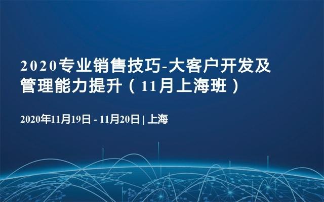 2020专业销售技巧-大客户开发及管理能力提升(11月上海班)