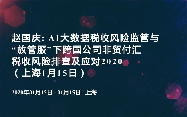 """赵国庆: AI大数据税收风险监管与""""放管服""""下跨国公司非贸付汇税收风险排查及应对2020(上海1月15日)"""