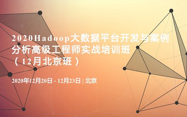 2020Hadoop大数据平台开发与案例分析高级工程师实战培训班(12月北京班)