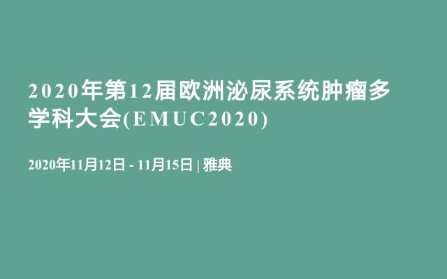 2020年第12届欧洲泌尿系统肿瘤多学科大会(EMUC2020)
