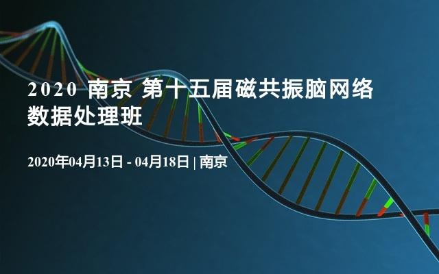 2020 南京 第十五屆磁共振腦網絡數據處理班