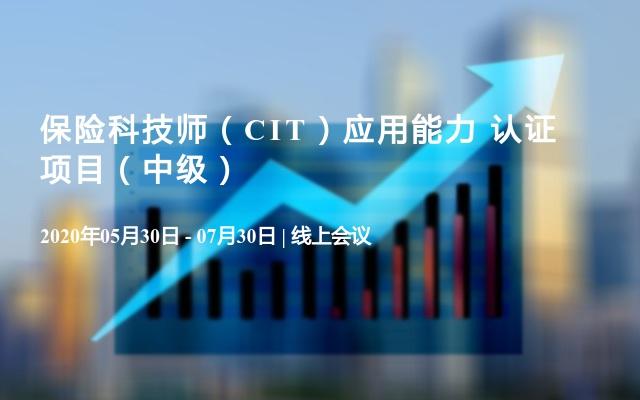 保险科技师(CIT)应用能力 认证项目(中级)