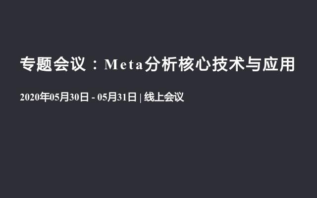 专题会议:Meta分析核心技术与应用(8月线上)