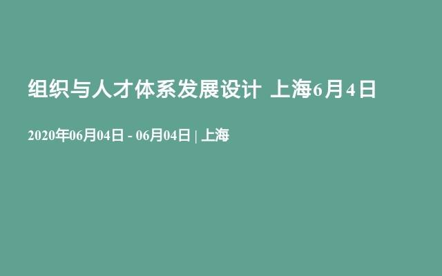 组织与人才体系发展设计 上海6月4日
