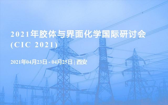 2021年胶体与界面化学国际研讨会(CIC 2021)