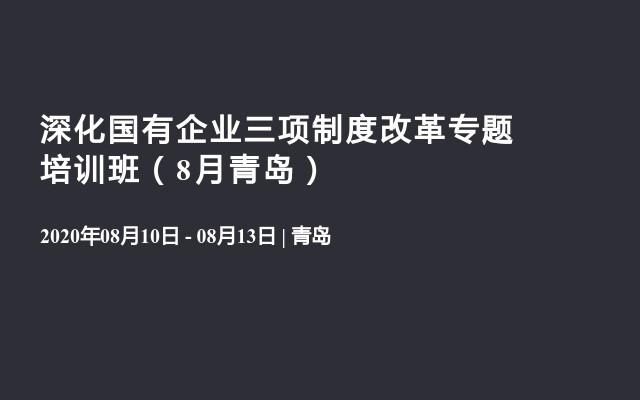 深化国有企业三项制度改革专题培训班(8月青岛)