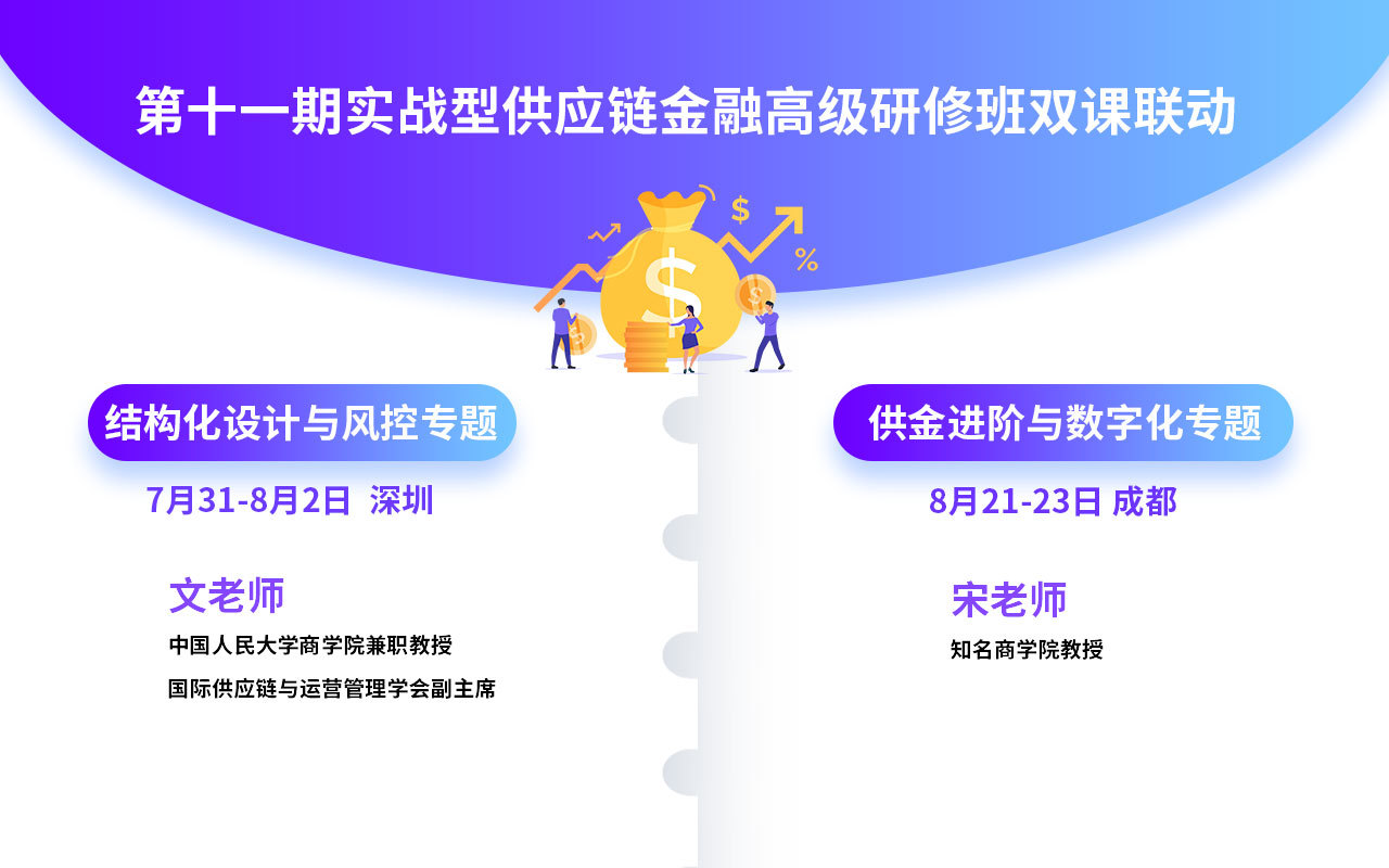 【8月 双课联动】供应链金融风控+数字化专题培训
