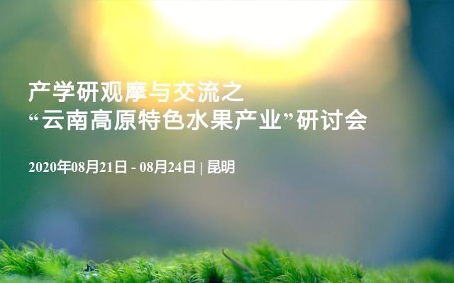 """产学研观摩与交流之""""云南高原特色水果产业""""研讨会"""