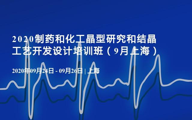 2020制药和化工晶型研究和结晶工艺开发设计培训班(9月上海)