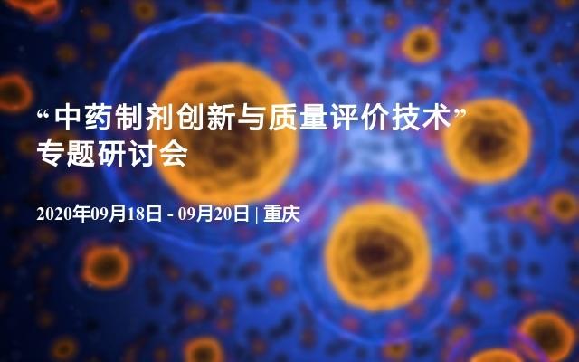 """""""中药制剂创新与质量评价技术""""专题研讨会"""