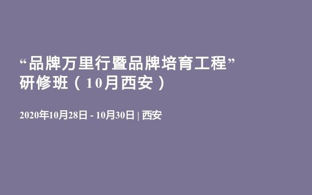 """""""品牌万里行暨品牌培育工程"""" 研修班(10月西安)"""