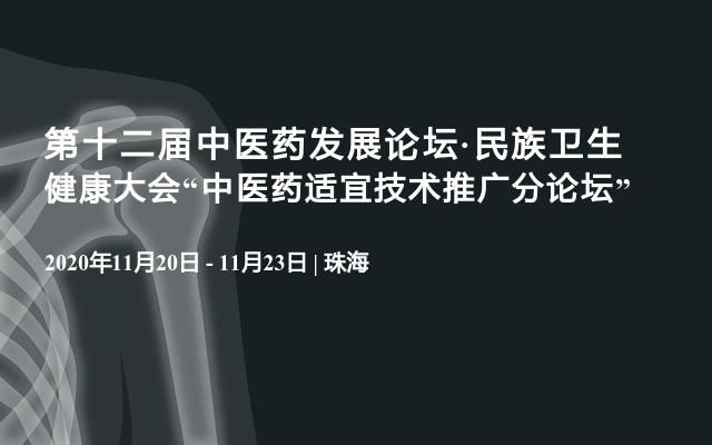 """第十二届中医药发展论坛·民族卫生健康大会""""中医药适宜技术推广分论坛"""""""