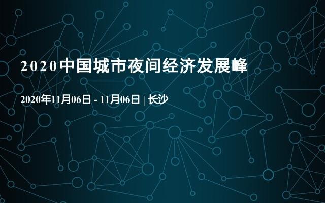 2020中国城市夜间经济发展峰
