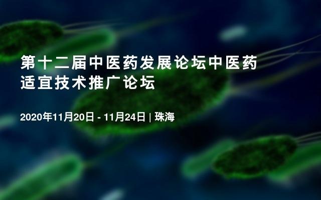 第十二届中医药发展论坛中医药适宜技术推广论坛