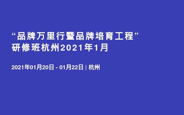 """""""品牌萬里行暨品牌培育工程""""研修班杭州2021年1月"""
