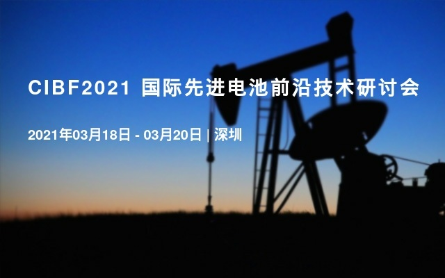 CIBF2021 国际先进电池前沿技术研讨会