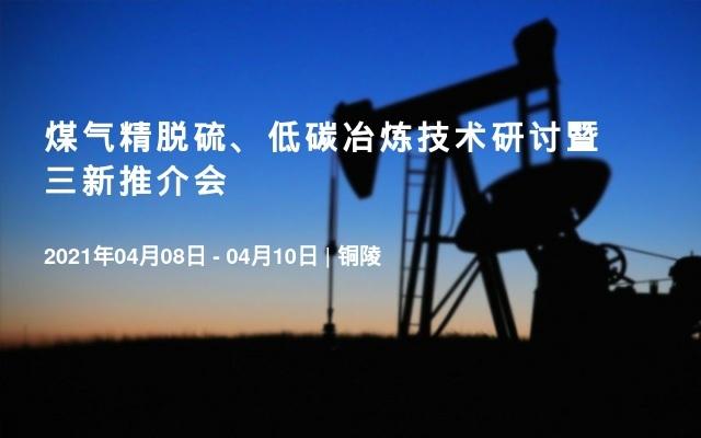 煤气精脱硫、低碳冶炼技术研讨暨三新推介会