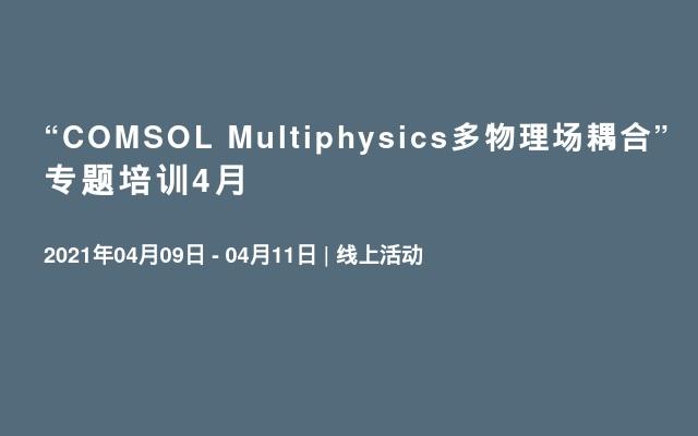 """COMSOL Multiphysics多物理场耦合""专题培训4月"