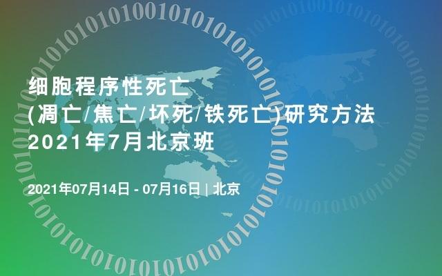 细胞程序性死亡(凋亡/焦亡/坏死/铁死亡)研究方法2021年7月北京班