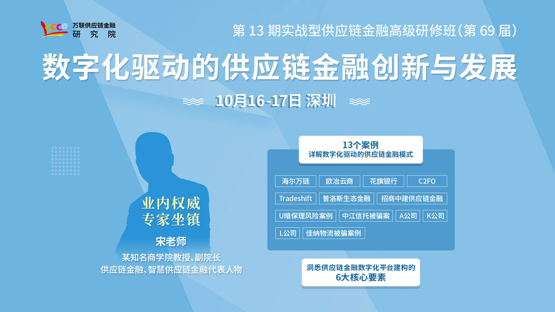 【深圳 10月课程】数字化驱动的供应链金融创新与发展