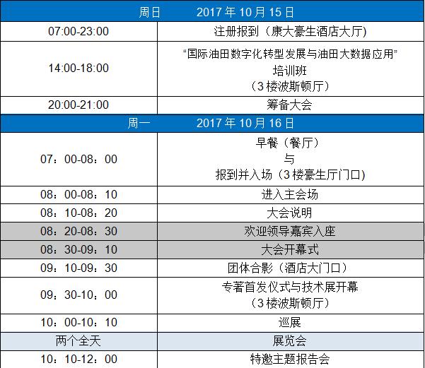2017第五届数字油田国际学术会议