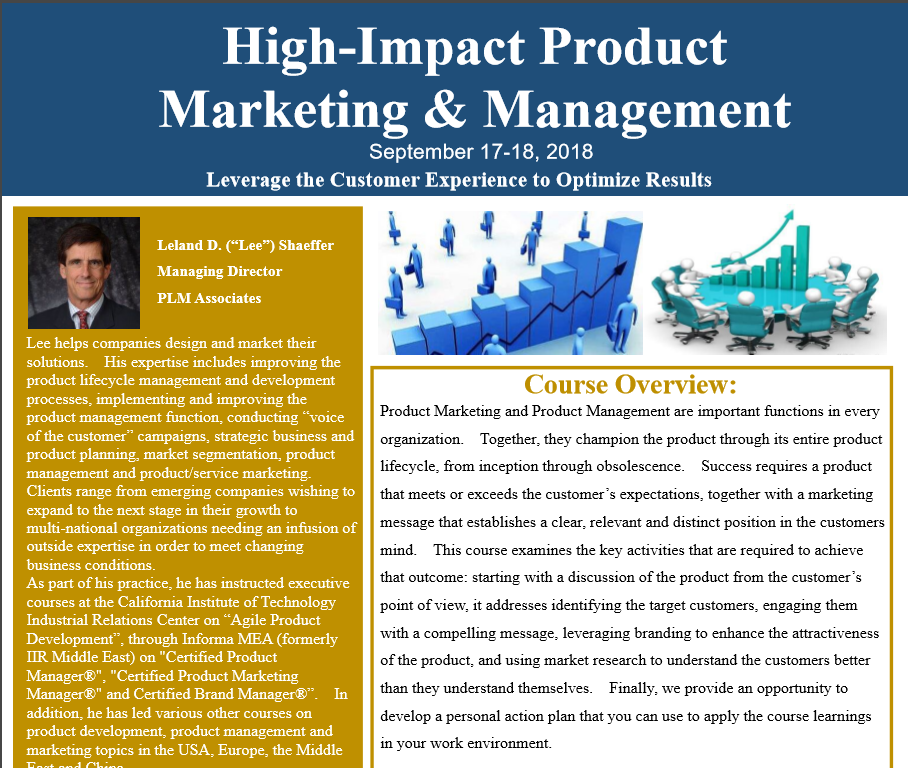 High-Impact Product Marketing & Management