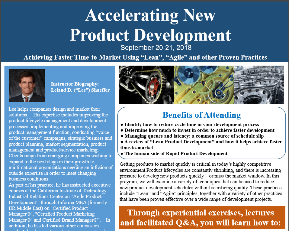 Accelerating New Product Development