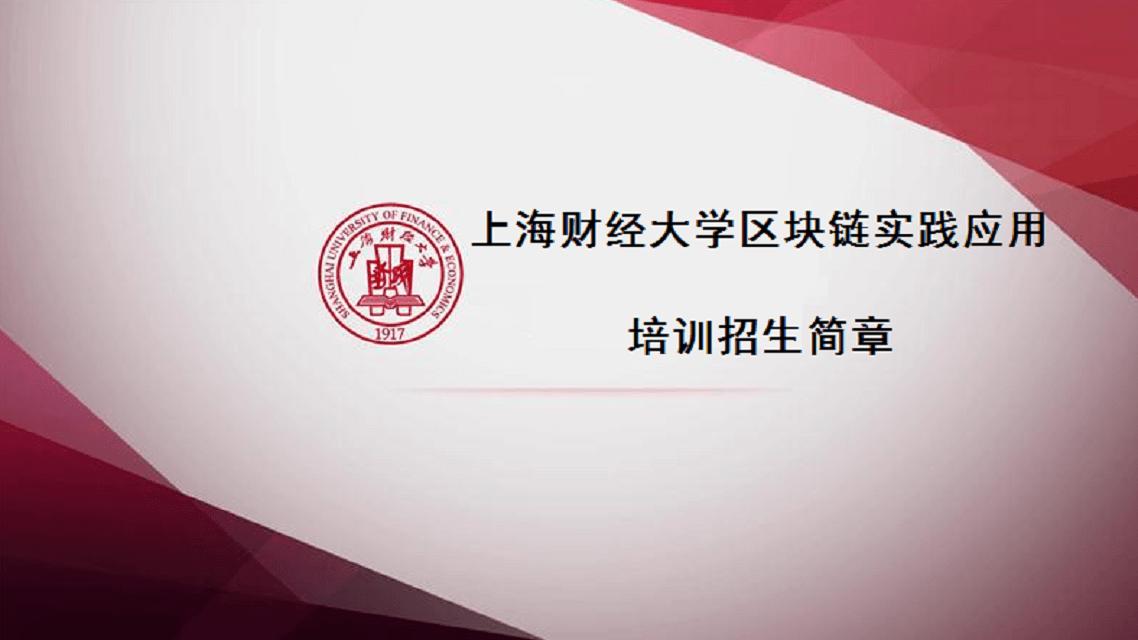 上海财经大学区块链实践应用培训
