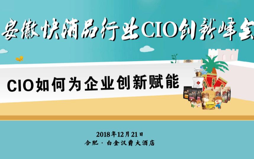 安徽快消品行业CIO创新峰会2018