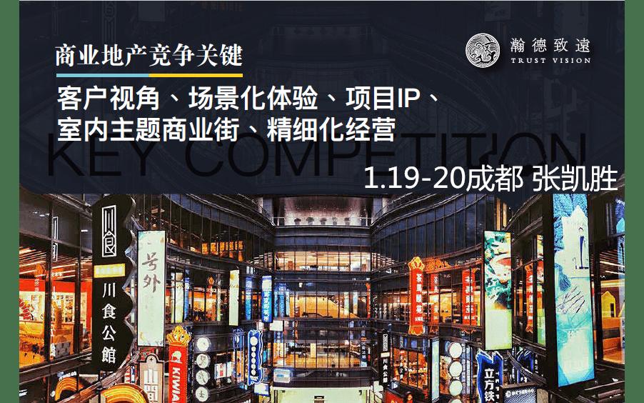 商业地产竞争关键 客户视角、场景化体验、项目IP、室内主题商业街、精细化经营2019(成都)
