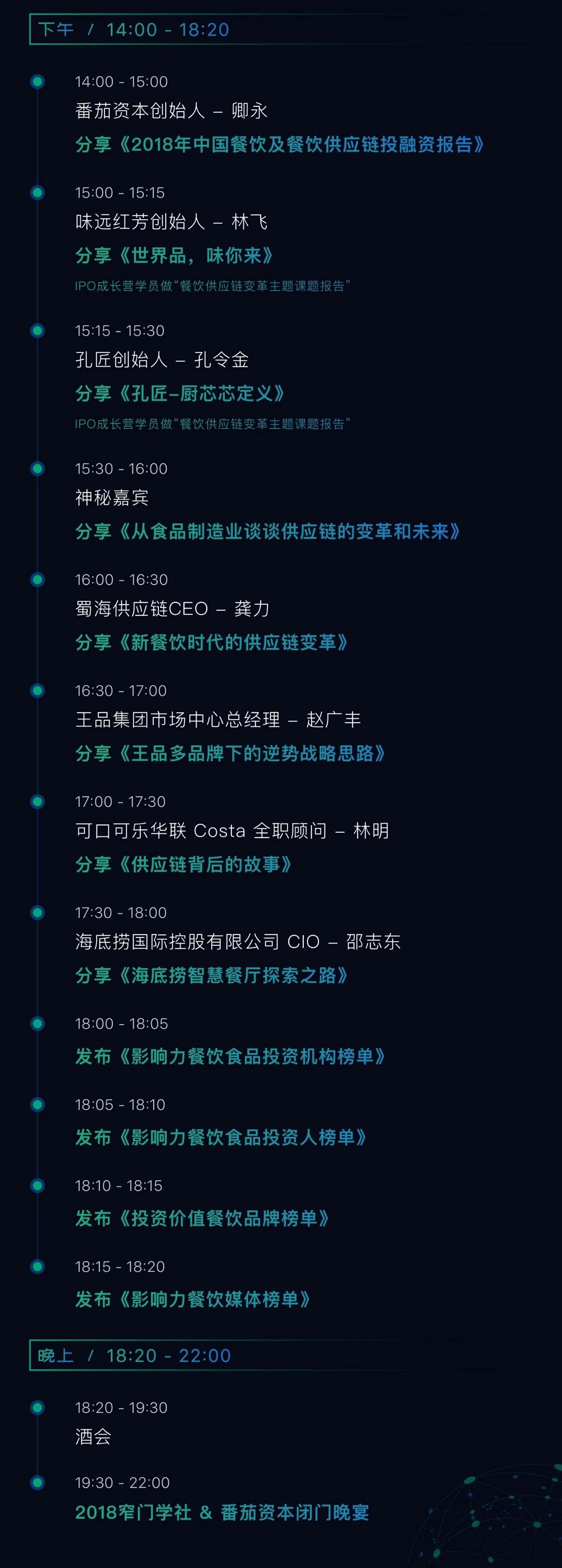 """""""餐饮供应链变革""""暨 2018 窄门学社 & 番茄资本年会(北京)"""