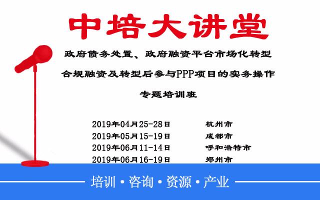 2019隐性债务处置和专项债发行及推进平台公司市场化转型指导操作培训(4月长沙班)