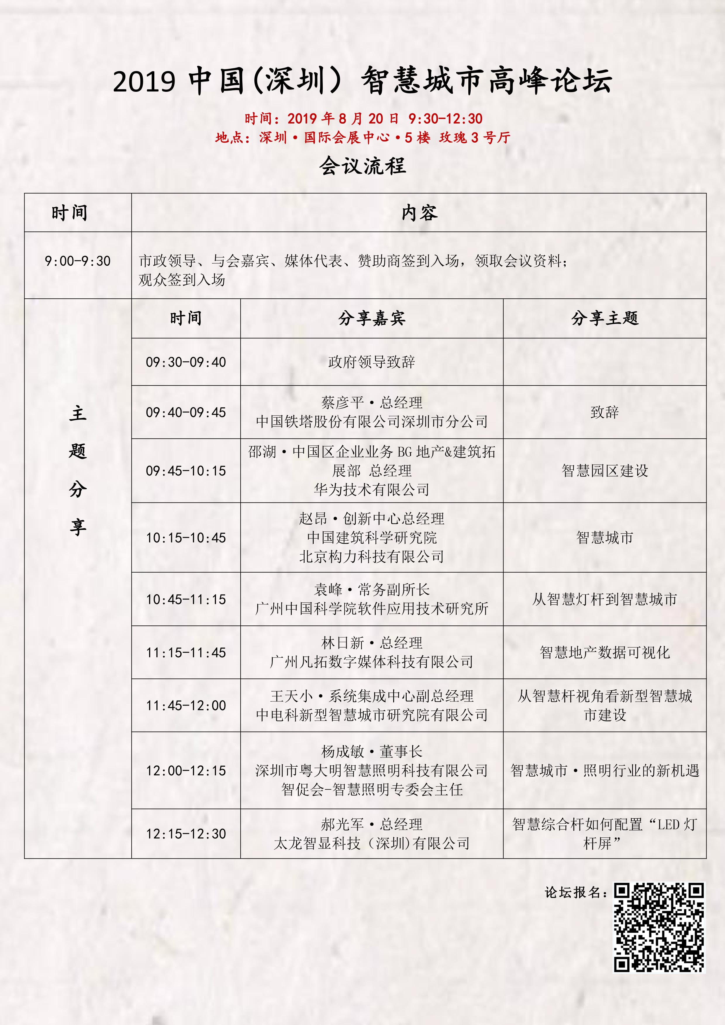 2019中国(深圳)智慧城市高峰论坛