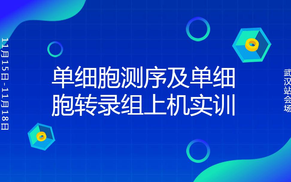 2019单细胞测序分析及单细胞转录组(11月武汉班)