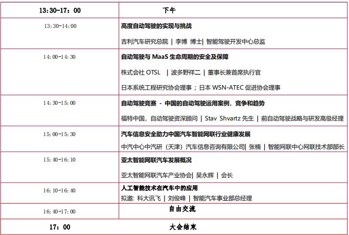 2019深圳国际汽车智能网联及自动驾驶创新技术论坛