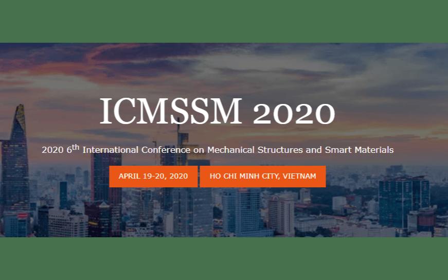 2020年第六届机械结构与智能材料国际会议(6th ICMSSM2020)
