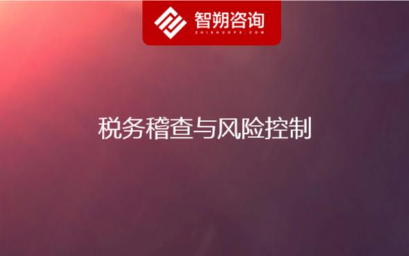 2020稅務稽查與風險控制(杭州)