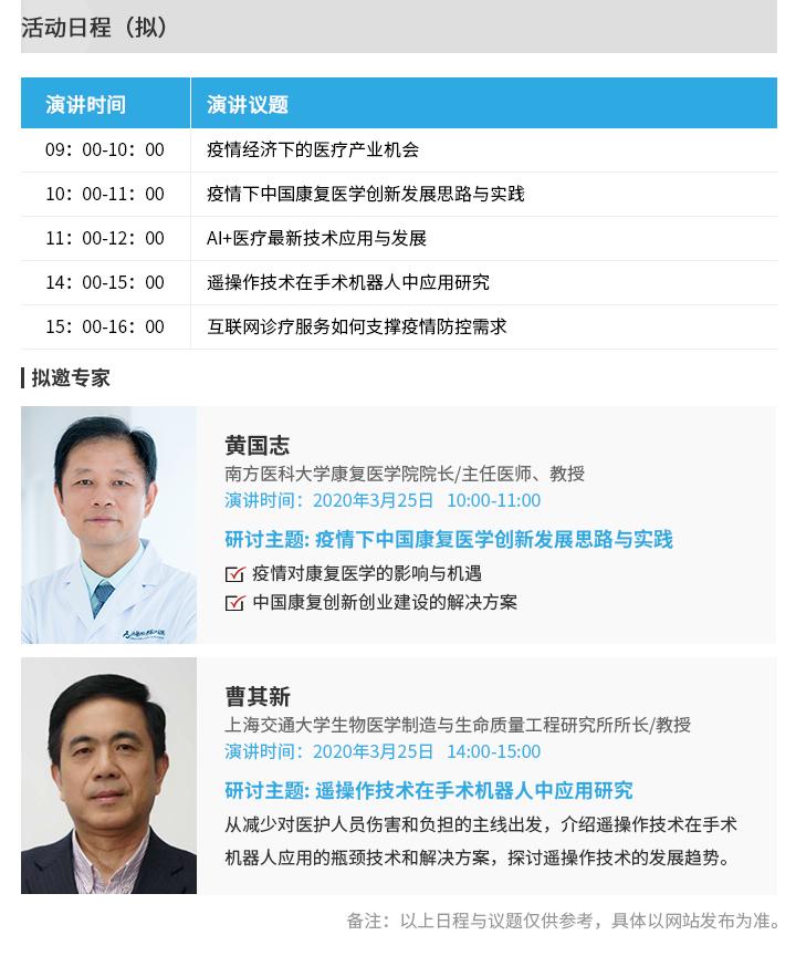 OFweek 2020中國醫療科技在線論壇
