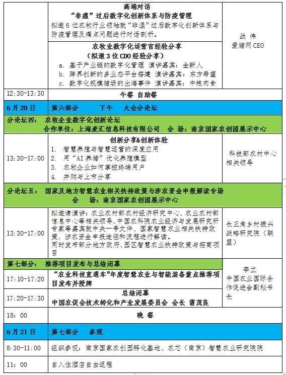2020(南京)智慧农业与智能装备成果技术交流大会暨投资合作对接会(南京)