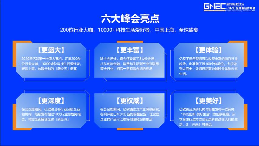 科技創新 美好生活 - 2020全球新經濟年會
